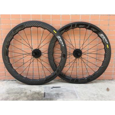 Clincher & Tubular Rims ZIPP NEW 454 NSW  Wave Circle Carbon Road Bike Wheels-Carbon Road Bicycle Rim Brake Wheels