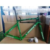 Carbon Fiber Road Bicycle Frame S-Works Tarmac SL7 Frameset Disc Brake Camouflage Green