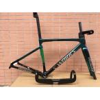 Carbon Fiber Road Bicycle Frame S-Works Tarmac SL7 Frameset Disc Brake Green Chameleon