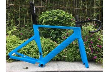 Carbon Fiber Road Bike Bicycle Frame Canyon 2021 New Aeroad Disc Blue