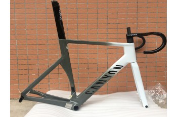 Carbon Fiber Road Bike Bicycle Frame Canyon 2021 New Aeroad Disc Gray and white