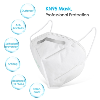in stock KN95 mask disposable anti-fog dust breathable anti-industrial dust anti-fog activated carbon cover PM2.5-
