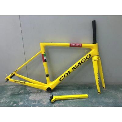 Colnago V3RS Carbon Frame Road Bicycle Yellow-Colnago V3RS V-Brake & Disc Brake
