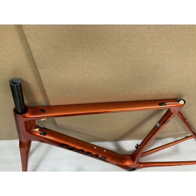 FACTOR O2 Carbon Road Bike Frame Orange-FACTOR Frame V-Brake & Disc Brake