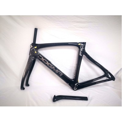 Pinarello DogMa F10 Carbon Road Bike Frame Black Gloss 1K 53cm BSA-Dogma F10 V Brake & Disc Brake