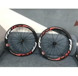 Clincher & Tubular Rims Carbon Road Bike Wheels Multicolor