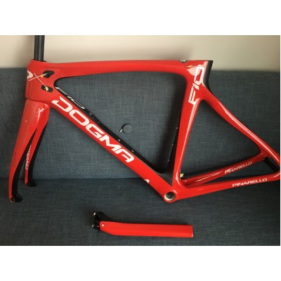 Pinarello DogMa F10 Carbon Road Bike Frame 166 Red-Dogma F10 V Brake & Disc Brake