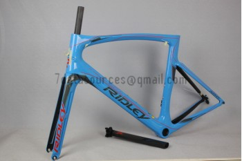 Ridley Carbon Road Bicycle Frame R1 Sky Blue