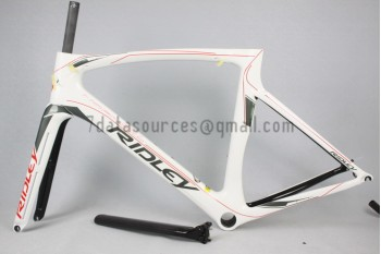 Ridley Carbon Road Bicycle Frame R1 White