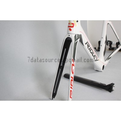 Ridley Carbon Road Bicycle Frame R1 White-Ridley Road