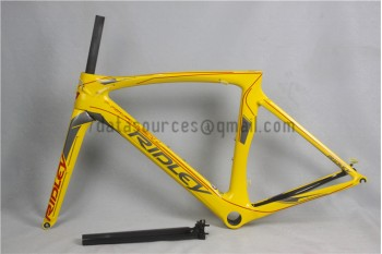 Ridley Carbon Road Bicycle Frame R1 Yellow