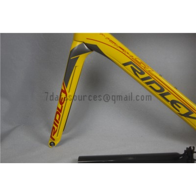 Ridley Carbon Road Bicycle Frame R1 Yellow-Ridley Road