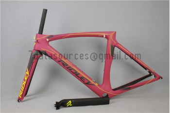 Ridley Carbon Road Bicycle Frame R3 Pink