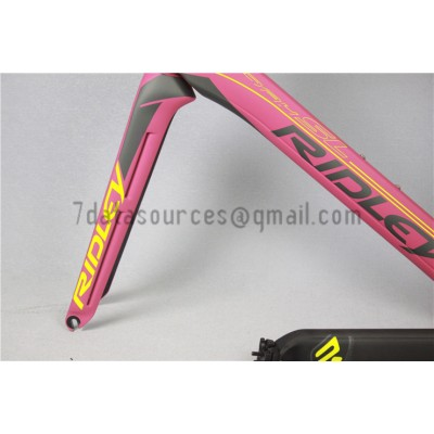 Ridley Carbon Road Bicycle Frame R3 Pink-Ridley Road