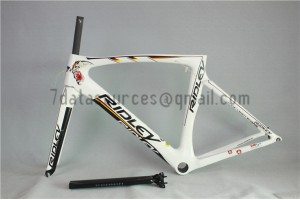 Ridley Carbon Road Bicycle Frame R6 White