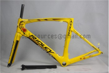 Ridley Carbon Road Bicycle Frame R6 Yellow