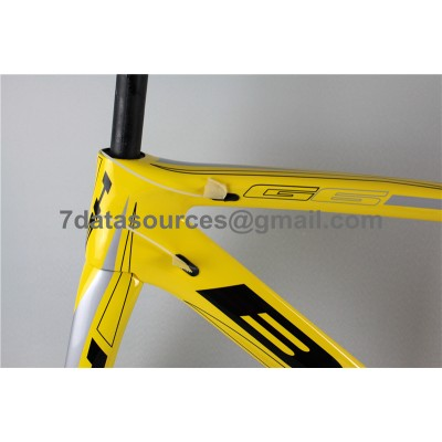 BH G6 Carbon Road Bike Bicycle Frame Yellow-BH G6 Frame