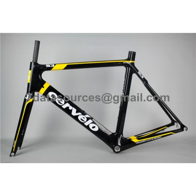 Cevelo S3 Carbon Road Bike Bicycle Frame Yellow-Cervelo Frame