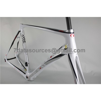 De Rosa 888 Carbon Fiber Road Bike Bicycle Frame white-De Rosa Frame