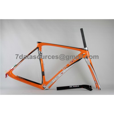 De Rosa 888 Carbon Fiber Road Bike Bicycle Frame Orange-De Rosa Frame
