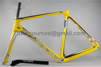 De Rosa 888 Carbon Fiber Road Bike Bicycle Frame Yellow