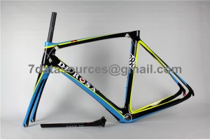 De Rosa 888 Carbon Fiber Road Bike Bicycle Frame Blue