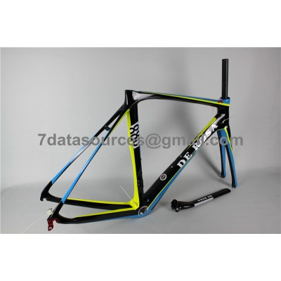 De Rosa 888 Carbon Fiber Road Bike Bicycle Frame Blue-De Rosa Frame