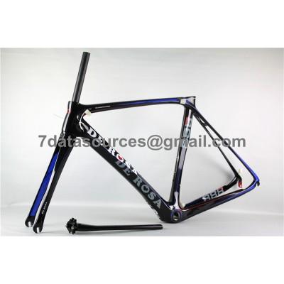 De Rosa 888 Carbon Fiber Road Bike Bicycle Frame Blue-De Rosa Frame