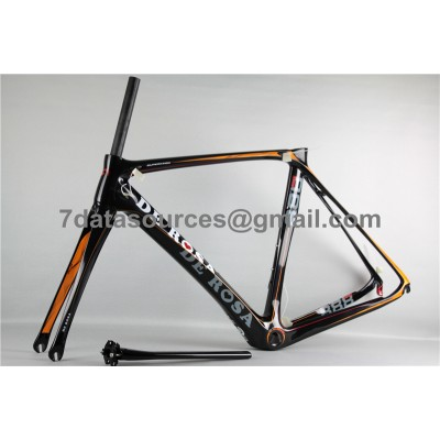 De Rosa 888 Carbon Fiber Road Bike Bicycle Frame Orange-De Rosa Frame
