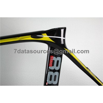 De Rosa 888 Carbon Fiber Road Bike Bicycle Frame Yellow-De Rosa Frame