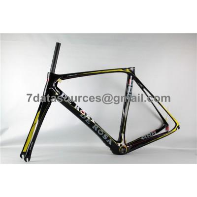 De Rosa 888 Carbon Fiber Road Bike Bicycle Frame Yellow-De Rosa Frame