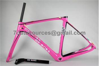 De Rosa 888 Carbon Fiber Road Bike Bicycle Frame Pink