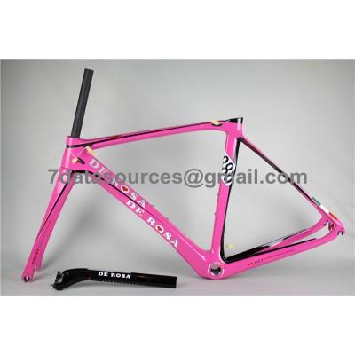 De Rosa 888 Carbon Fiber Road Bike Bicycle Frame Pink-De Rosa Frame