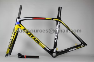 Look 695 Carbon Fiber Road Bike Bicycle Frame Reddish Yellow