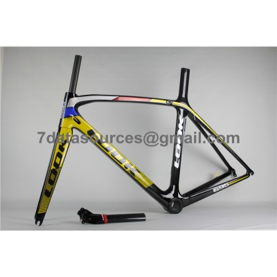 Look 695 Carbon Fiber Road Bike Bicycle Frame Reddish Yellow-Look Frame