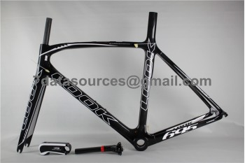Look 695 Carbon Fiber Road Bike Bicycle Frame Black Flashing 1K