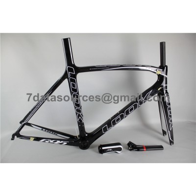 Look 695 Carbon Fiber Road Bike Bicycle Frame Black Flashing 1K-Look Frame
