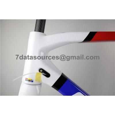 Look 695 Carbon Fiber Road Bike Bicycle Frame Blue Yellow-Look Frame