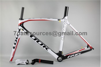 Look 695 Carbon Fiber Road Bike Bicycle Frame White Red
