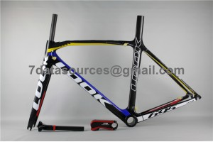 Look 695 Carbon Fiber Road Bike Bicycle Frame Blue Yellow