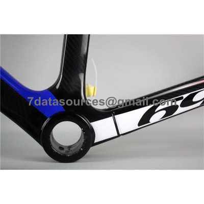 Look 695 Carbon Fiber Road Bike Bicycle Frame Blue Yellow-Look Frame
