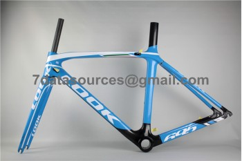 Look 695 Carbon Fiber Road Bike Bicycle Frame Blue
