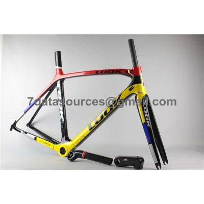 Look 695 Carbon Fiber Road Bike Bicycle Frame Reddish Yellow-Look Frame