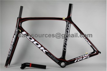 Look 695 Carbon Fiber Road Bike Bicycle Frame Red Linellae
