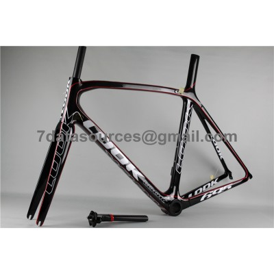 Look 695 Carbon Fiber Road Bike Bicycle Frame Red Linellae-Look Frame