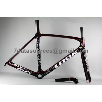 Look 695 Carbon Fiber Road Bike Bicycle Frame Red Linellae-Look Frame