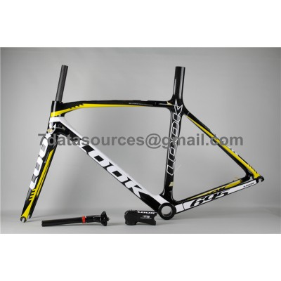 Look 695 Carbon Fiber Road Bike Bicycle Frame Yellow-Look Frame