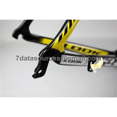 Look 695 Carbon Fiber Road Bike Bicycle Frame Yellow-Look Frame
