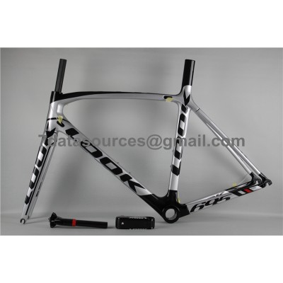 Look 695 Carbon Fiber Road Bike Bicycle Frame White & Black-Look Frame