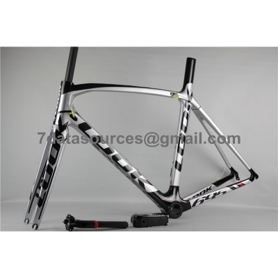 Look 695 Carbon Fiber Road Bike Bicycle Frame White & Black-Look Frame